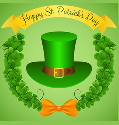 Happy st patricks day festive colorful poster vector