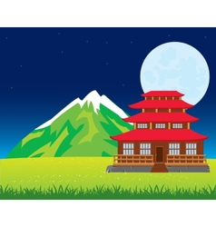 House in japan vector image