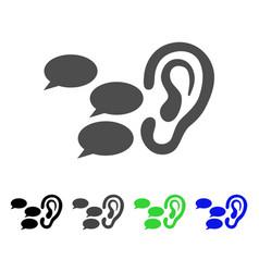 Listen gossips icon vector