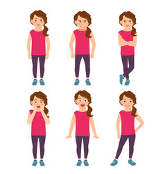 little girls emotions vector image vector image