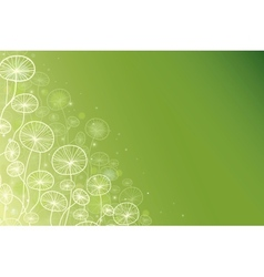 Magical doodle plants horizontal background vector