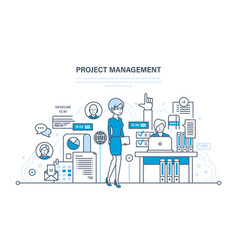 management planning process control vector image