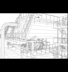 Oil and gas industrial equipment vector