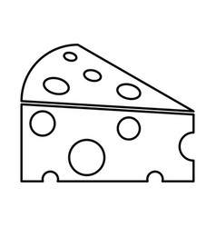 Piece cheese black icon vector