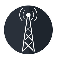radio antenna transmission mast communication vector image vector image