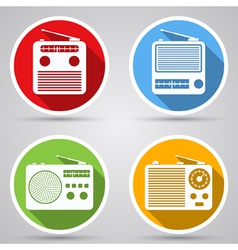 Radio receivers icons vector image