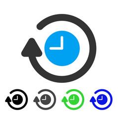 Repeat clock flat icon vector