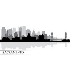 Sacramento city skyline silhouette background vector