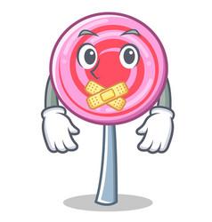 silent cute lollipop character cartoon vector image