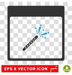 Sparkler firecracker calendar page eps icon vector