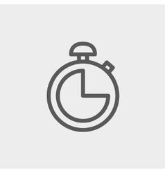 Stopwatch thin line icon vector