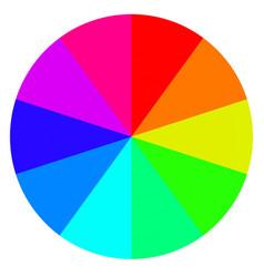 Template wheel fortune color palette vector