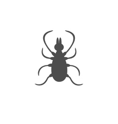 Tick insect silhouette Mite deer ticks icon vector image