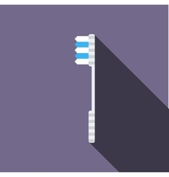 White toothbrush icon flat style vector image