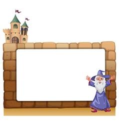Wizard castle frame vector