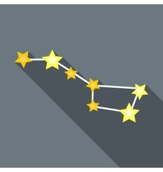 Zodiacal constellation icon flat style vector image