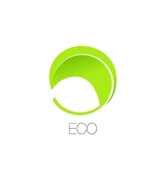 Isolated abstract green color logotype vector image