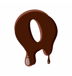 Letter o from latin alphabet made of chocolate vector