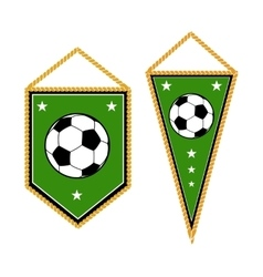 Set of soccer pennants isolated white vector