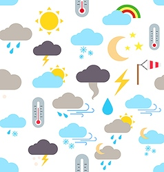 Weather forecast pattern stickers vector image