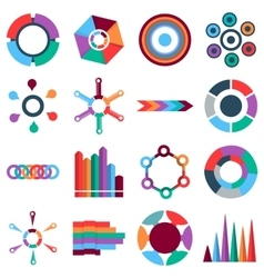 Infographic items icons set flat style vector image