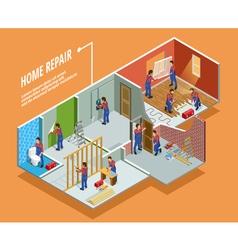 Home repair isometric template vector