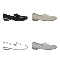 loafers icon in cartoon style isolated on white vector image