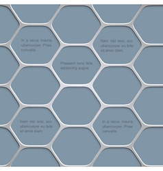 Abstract honeycomb pattern background vector