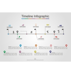Infographics timeline element layout vector