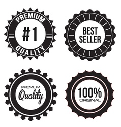 Collection of Premium Quality Best Seller vector image