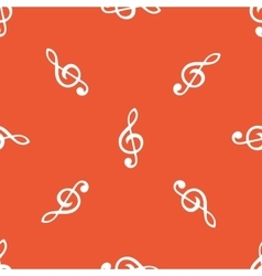 Orange treble clef pattern vector