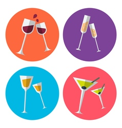 Wine set 2 vector
