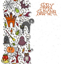 Template for halloween party vector