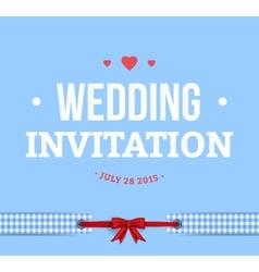 Cute Wedding Invitation Card vector image