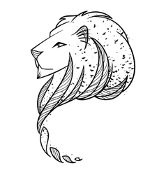 Lion head  print for textile or vector