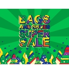 Big winter sale poster with bags and shoes super vector