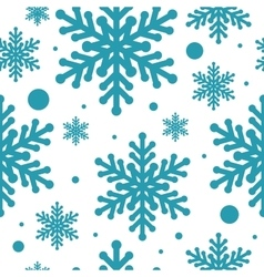 Blue snowflake seamless isolated vector