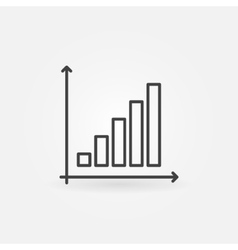 Business graph linear icon vector