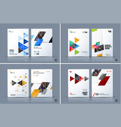Business template brochure layout cover vector