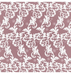 Classic damask floral ornament vector image vector image