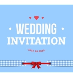Cute Wedding Invitation Card vector image