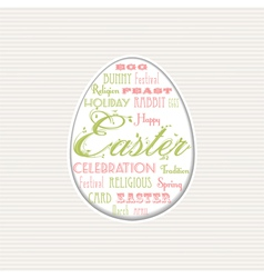 easter egg typographical background vector image vector image
