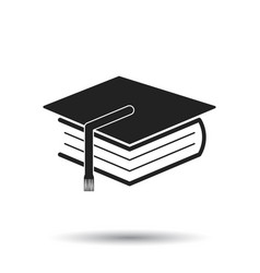 Education and book flat icon on white background vector