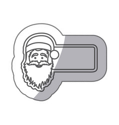 figures sticker poster santa claus icon vector image