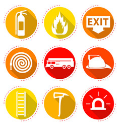 Fire fighter icons vector