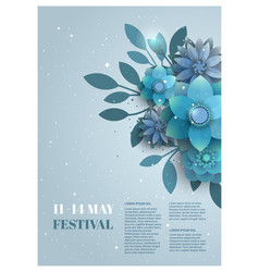 Flower poster for the festival vector