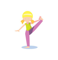 gymnastics for children concept in flat design vector image vector image