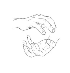 Hand action charge power action vector