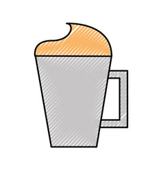Iced coffee cup isolated icon vector
