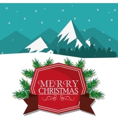 Label of christmas season design vector